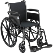 Drive Medical Cruiser III Lightweight Wheelchair with Flip Back Removable Arms