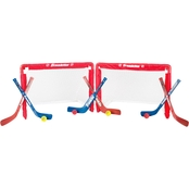 Franklin Sports NHL Mini Hockey Insta-Set 2-Goal Combo