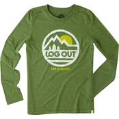 Life is Good Log Out Cool Tee