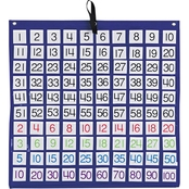 Carson-Dellosa Publishing Hundreds Pocket Chart with 100 Clear Pockets