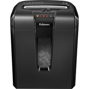 Fellowes Powershred 63Cb Light-Duty Cross-Cut Shredder, 10 Sheet Capacity