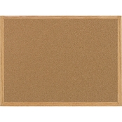 MasterVision Value Cork Bulletin Board with Oak Frame