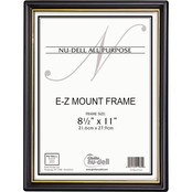 NuDell EZ Mount Document Frame with Trim Accent, 8 1/2 x 11 In.