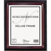 NuDell Executive Document Frame, Plastic, Black/Mahogany
