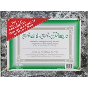 NuDell Award-A-Plaque Document Holder, Acrylic/Plastic