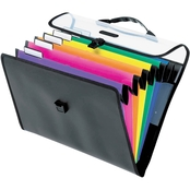 Pendaflex Desk Free Hanging 6-Pocket Organizer with Case 1/3 Tab Letter Assorted