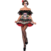 Leg Avenue Day of the Dead Doll 2 pc. Costume
