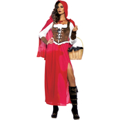 Leg Avenue Women's / Plus Size Woodland Red Riding Hood 3 pc. Costume