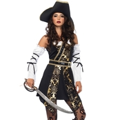 Leg Avenue Women's Black Sea Buccaneer 4 pc. Costume