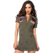 Leg Avenue Women's Top Gun Flight Dress Costume