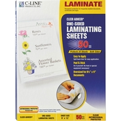 C-Line Cleer Adheer 9 in. x 12 in. Self-Adhesive Laminating Film Sheets 50 Pk.