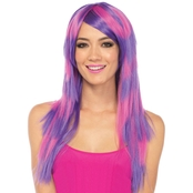 Leg Avenue Adult Women's Cheshire Cat Layered Two Tone Wig