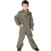 Leg Avenue Boys Enchanted Top Gun Flight Suit Costume