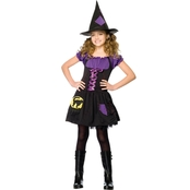 Leg Avenue Girls Enchanted Black Cat Witch 2 pc. Costume