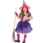 Leg Avenue Girls Enchanted Black Cat Witch 3 pc. Cat Costume