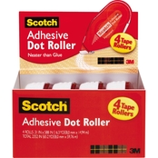 Scotch Adhesive Dot Roller 4 Pk.