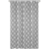 Maytex Emma Fabric Shower Curtain, Gray