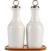 Martha Stewart Collection Oil and Vinegar Ceramic Cruet Set