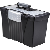 Storex Portable File Storage Box with Organizer Lid