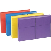 Smead 2 In. Expanding Antimicrobial File Wallet, Legal, Four Colors, 4 Pk.