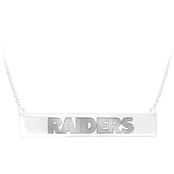 Sterling Silver NFL Oakland Raiders Bar Necklace