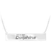 Sterling Silver NFL Miami Dolphins Bar Necklace
