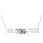 Sterling Silver NFL Carolina Panthers Bar Necklace