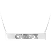 Sterling Silver NFL Kansas City Chiefs Bar Necklace