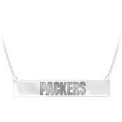 Sterling Silver NFL Green Bay Packers Bar Necklace