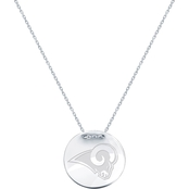 Sterling Silver NFL Los Angeles Rams Tailored Necklace with 18 in. Chain