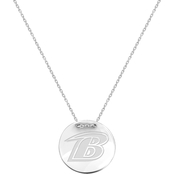 Sterling Silver NFL Baltimore Ravens Tailored Necklace with 18 in. Chain