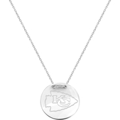Sterling Silver NFL Kansas City Chiefs Tailored Necklace with 18 in. Chain