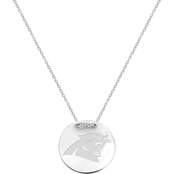 Sterling Silver NFL Carolina Panthers Tailored Necklace with 18 in. Chain