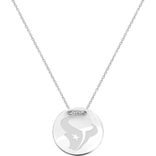 Sterling Silver NFL Houston Texans Tailored Necklace with 18 in. Chain