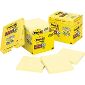Post-it Notes Super Sticky 4 x 4 in. 90 Sheet Lined Note Pad 12 Pk.