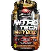 MuscleTech Nitro Tech Premium Gold 100% Whey Protein Double Rich Chocolate 2.2 lb.