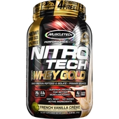 MuscleTech NITRO TECH Premium Gold 100% Whey Protein Vanilla Ice Cream 2.2 lb.