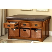 Furniture of America Hobart Storage Bench
