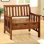 Furniture of America Pine Crest Storage Bench