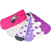 K. Bell Cat Dot Socks 6 Pk.