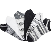 K. Bell Black and White Pattern Socks 6 Pk.