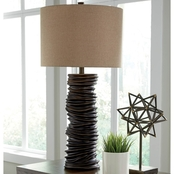 Signature Design by Ashley Turbotic Poly Table Lamp with Shade