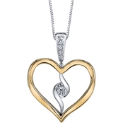 Sirena 14K Yellow and White Gold 1/8 CTW Diamond Twist Pendant