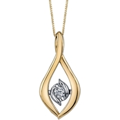 Sirena 14K Yellow and White Gold 1/5 Ct. Twist Pendant