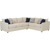Klaussner Atlanta 2 Piece Sectional RAF Sofa LAF Corner Sofa in Curious Pearl