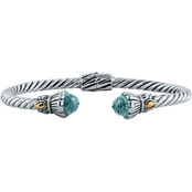 Robert Manse Designs Bali Tulip Cable Bracelet with Blue Topaz