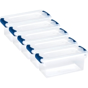 Homz 7.5 qt. Clear Latching Storage Shoe Box 5 Pk.