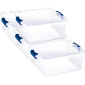 Homz 15.5 qt. Clear Latching Storage Sweater Box 4 Pk.