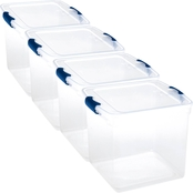 Homz 31 qt. Clear Latching Storage Box 4 Pk.