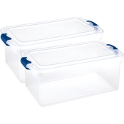 Homz 66 qt. Clear Latching Storage Box 2 Pk.